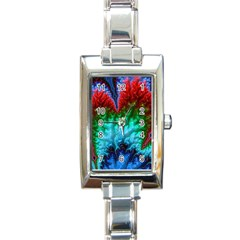 Amazing Special Fractal 25b Rectangle Italian Charm Watch by Fractalworld