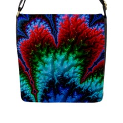 Amazing Special Fractal 25b Flap Messenger Bag (l)  by Fractalworld