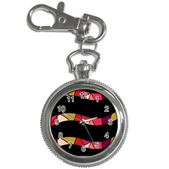 Abstract Waves Key Chain Watches by Valentinaart