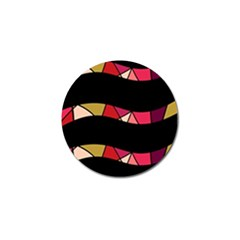 Abstract Waves Golf Ball Marker by Valentinaart