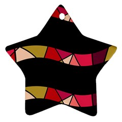 Abstract Waves Star Ornament (two Sides)  by Valentinaart