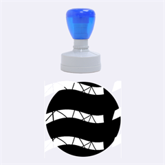 Abstract Waves Rubber Round Stamps (medium)