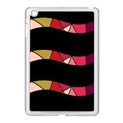 Abstract Waves Apple Ipad Mini Case (white) by Valentinaart