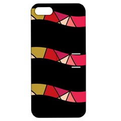 Abstract Waves Apple Iphone 5 Hardshell Case With Stand by Valentinaart