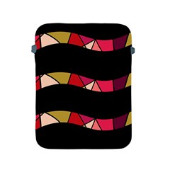 Abstract Waves Apple Ipad 2/3/4 Protective Soft Cases by Valentinaart