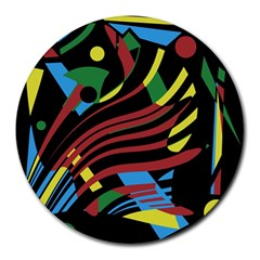 Optimistic Abstraction Round Mousepads by Valentinaart