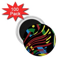 Optimistic Abstraction 1 75  Magnets (100 Pack)  by Valentinaart