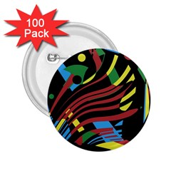 Optimistic Abstraction 2 25  Buttons (100 Pack)  by Valentinaart