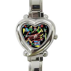 Optimistic Abstraction Heart Italian Charm Watch by Valentinaart