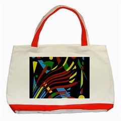 Optimistic Abstraction Classic Tote Bag (red) by Valentinaart