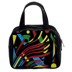 Optimistic Abstraction Classic Handbags (2 Sides) by Valentinaart