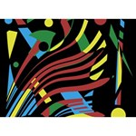 Optimistic abstraction THANK YOU 3D Greeting Card (7x5)  Back