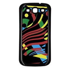Optimistic Abstraction Samsung Galaxy S3 Back Case (black) by Valentinaart