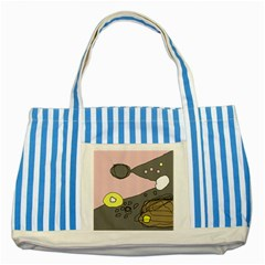 Decorative Abstraction Striped Blue Tote Bag by Valentinaart