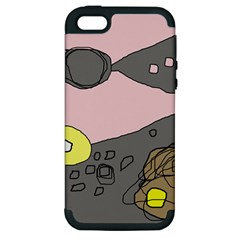 Decorative Abstraction Apple Iphone 5 Hardshell Case (pc+silicone) by Valentinaart