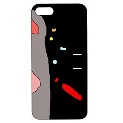 Crazy Abstraction Apple Iphone 5 Hardshell Case With Stand by Valentinaart