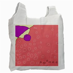 Pink Abstraction Recycle Bag (one Side) by Valentinaart