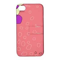 Pink Abstraction Apple Iphone 4/4s Hardshell Case With Stand by Valentinaart