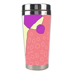 Pink Abstraction Stainless Steel Travel Tumblers by Valentinaart
