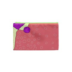 Pink Abstraction Cosmetic Bag (xs) by Valentinaart