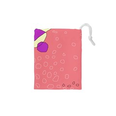 Pink Abstraction Drawstring Pouches (xs)  by Valentinaart