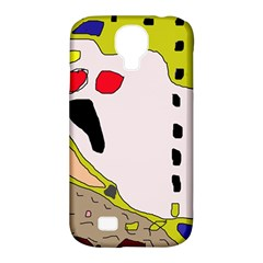 Yellow Abstraction Samsung Galaxy S4 Classic Hardshell Case (pc+silicone) by Valentinaart