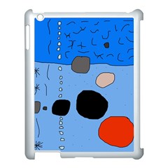 Blue Abstraction Apple Ipad 3/4 Case (white) by Valentinaart