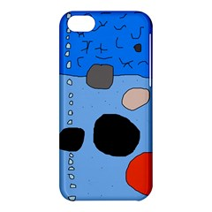 Blue Abstraction Apple Iphone 5c Hardshell Case by Valentinaart