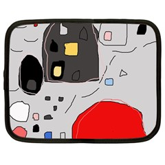 Playful abstraction Netbook Case (Large) by Valentinaart