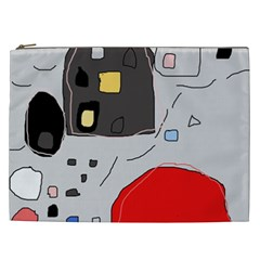 Playful Abstraction Cosmetic Bag (xxl)  by Valentinaart