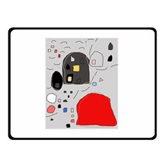 Playful Abstraction Double Sided Fleece Blanket (small)  by Valentinaart