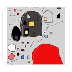 Playful Abstraction Double Sided Flano Blanket (small)  by Valentinaart