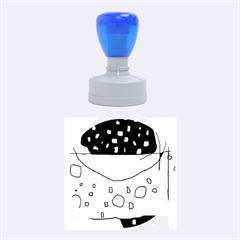 Playful Abstraction Rubber Round Stamps (medium)