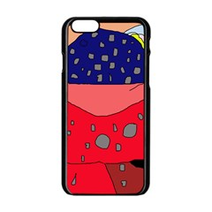Playful Abstraction Apple Iphone 6/6s Black Enamel Case by Valentinaart