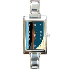 Colorful Lines  Rectangle Italian Charm Watch by Valentinaart