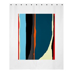 Colorful Lines  Shower Curtain 60  X 72  (medium)  by Valentinaart