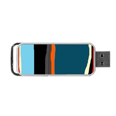 Colorful Lines  Portable Usb Flash (one Side) by Valentinaart