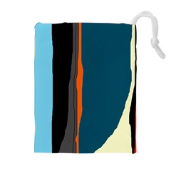 Colorful Lines  Drawstring Pouches (extra Large)