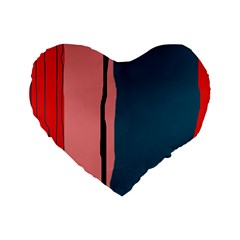 Decorative Lines Standard 16  Premium Heart Shape Cushions by Valentinaart