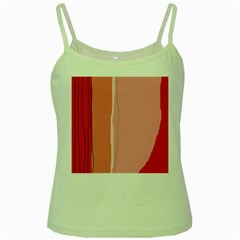 Red And Pink Lines Green Spaghetti Tank by Valentinaart