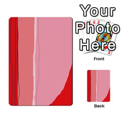 Red And Pink Lines Multi Purpose Cards (rectangle)  by Valentinaart