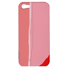 Red And Pink Lines Apple Iphone 5 Hardshell Case by Valentinaart