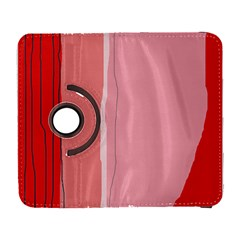 Red And Pink Lines Samsung Galaxy S  Iii Flip 360 Case by Valentinaart