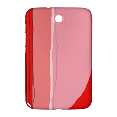 Red And Pink Lines Samsung Galaxy Note 8 0 N5100 Hardshell Case  by Valentinaart