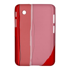 Red And Pink Lines Samsung Galaxy Tab 2 (7 ) P3100 Hardshell Case  by Valentinaart