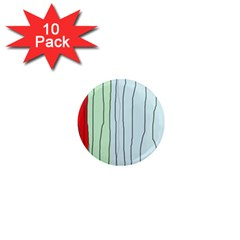 Decorative lines 1  Mini Magnet (10 pack)