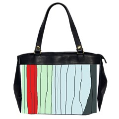 Decorative Lines Office Handbags (2 Sides)  by Valentinaart