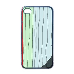 Decorative Lines Apple Iphone 4 Case (black) by Valentinaart