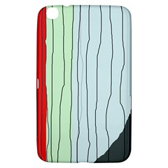 Decorative Lines Samsung Galaxy Tab 3 (8 ) T3100 Hardshell Case  by Valentinaart