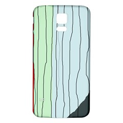 Decorative Lines Samsung Galaxy S5 Back Case (white) by Valentinaart